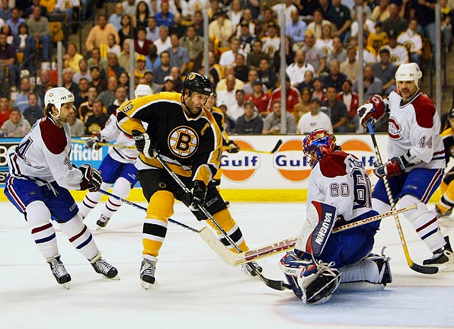 The Canadiens were 0-12 during their storied history when trailing three games to one in seven-game playoff series. The Bruins were 17-0 under the same circumstances. But Montreal stormed back to win the last three games of their Eastern Conference semifinals series against the No. 2 seed Bruins. After taking Game 5 with a 5-1 rout in Boston, and winning Game 6 at home by the comfortable marging of 5-2, the Habs returned to Beantown and capped their comeback with a 2-0 win in Game 7 behind a 32-save shutout by goaltender Jose Theodore.  Click here to watch the video.