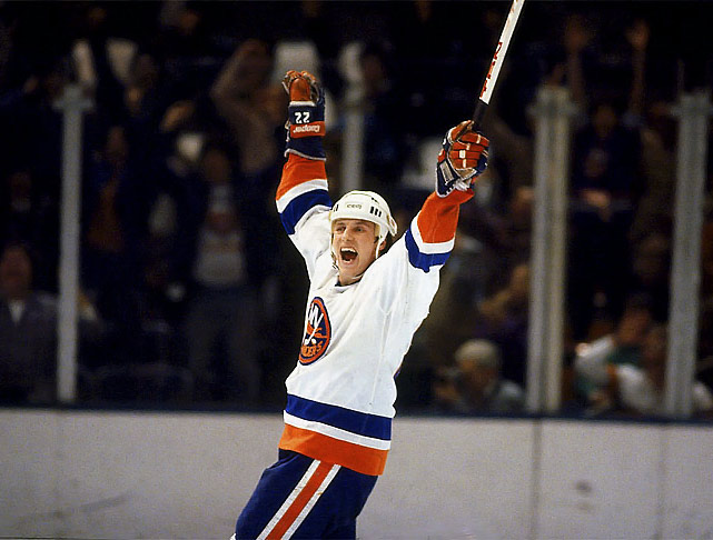 Back injuries cut short the career of one of the game's most prolific pure goal scorers, who set an NHL record by topping the 50 mark in nine consecutive seasons. Bossy got No. 300 in style, as part of a four-goal performance on March 23, 1982. But despite scoring at the highest rate (0.762 goals per game) in league history, he ranks 20th on the career scoring list with 587.