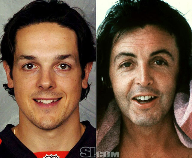 Danny Briere  - Philadelphia Flyers right wing  Paul McCartney  - musician