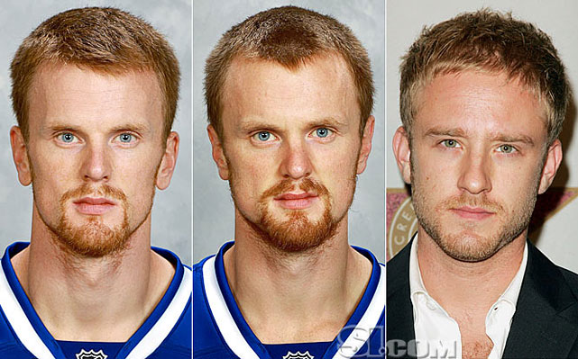 Daniel Sedin  - Vancouver Canucks left wing  Henrik Sedin  - Vancouver Canucks center  Ben Foster  - actor,  The Messenger
