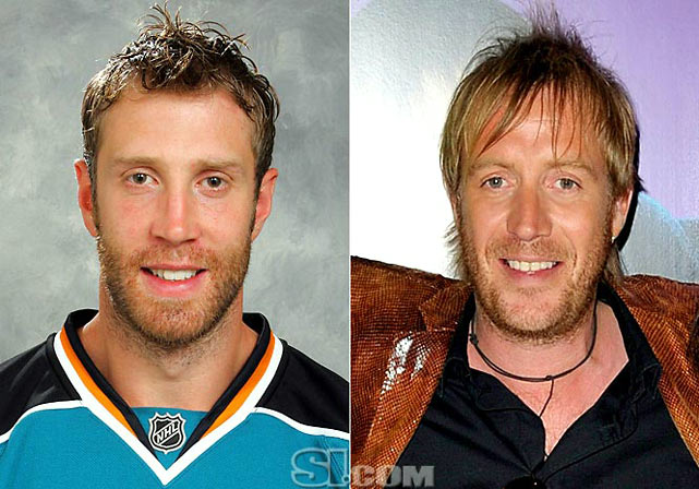 Joe Thornton  - San Jose Sharks center  Rhys Ifans  - actor,  The Replacements
