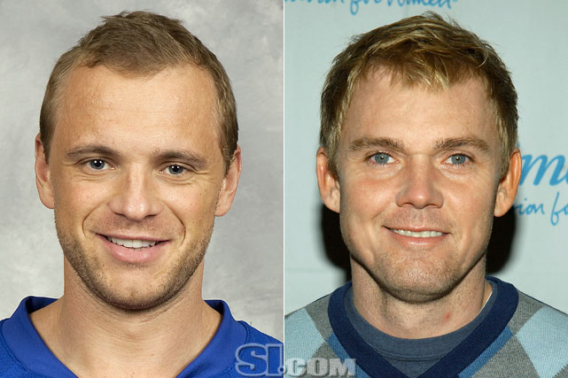 "Marian Gaborik  - New York Rangers right wing  Rick Schroder  - actor,  ""Silver Spoons"""