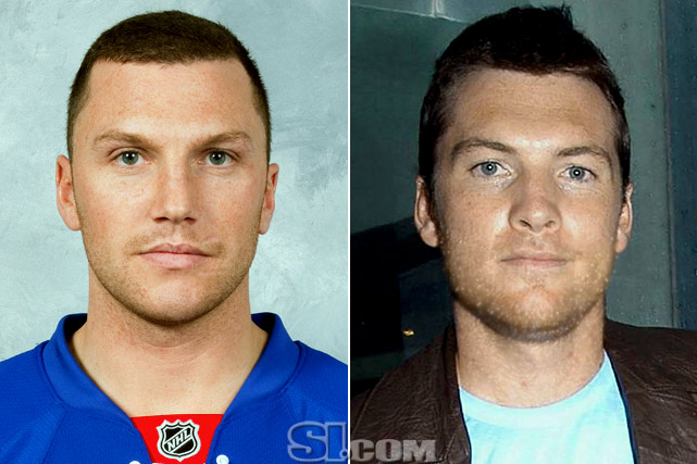 Sean Avery  - New York Rangers left wing  Sam Worthington  - actor,  Avatar