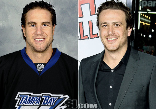 "Simon Gagne  - Tampa Bay Lightning left wing  Jason Segel  - actor,  ""How I Met Your Mother"""