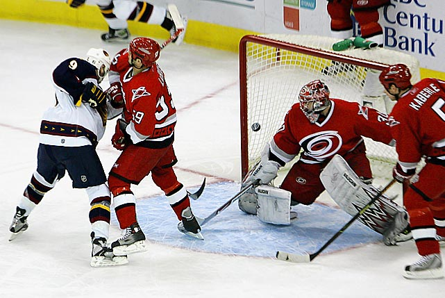 Much like the 2011 Blackhawks, the Hurricanes took personnel losses after winning the Cup. But unlike Chicago, they weren't able to return to the postseason. The Hurricanes finished 11th in the Eastern conference minus a handful of important support players, including Mark Recchi, who scored seven goals during the Stanley Cup run.