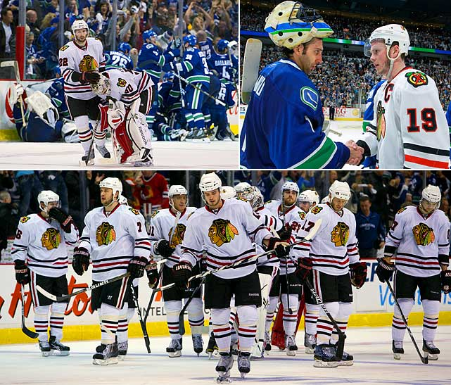 The Blackhawks needed last-minute help, but made it back to the postseason in 2011, although their salary cap-induced lack of depth created few expectations of a repeat. In the first round against rival Vancouver, the Hawks fell into an 0-3 hole before staging a dramatic rally that took them into overtime of Game 7 where they were finally eliminated.