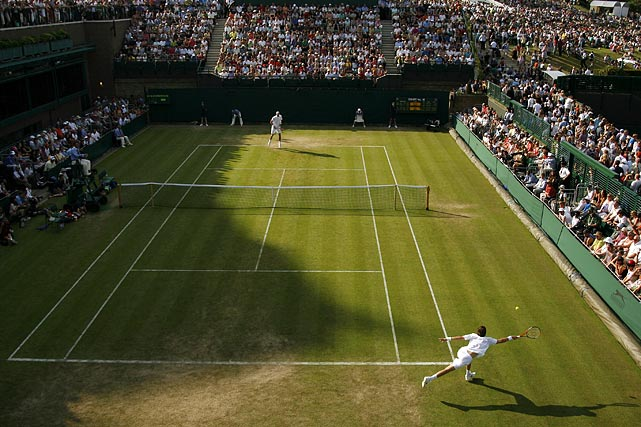 The 2010 first-round Wimbledon match between John Isner and Nicolas Mahut lasted 11 hours, five minutes. The final set, which was suspended twice because of darkness, lasted eight hours, 11 minutes alone. The record-breaking battle -- which Isner finally won 6-4, 3-6, 6-7 (7), 7-6 (3), 70-68 -- also led Isner (112) and Mahut (103) to eclipse the sport's previous high of 78 aces in one match.