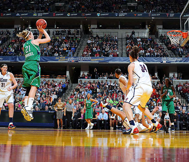 Irish guard Natalie Novosel was deadly accurate from the field, hitting 8 of 13 shots and scoring 22 points in the national semifinal.