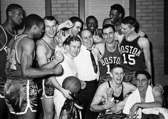 Red Auerbach said the 1958-59 Celtics might be the greatest team in league history, and it's easy to see why. The Celtics completed the first finals sweep in league history. All five Boston starters -- Bill Russell, Bill Sharman, Bob Cousy, Tom Heinsohn and Frank Ramsey -- went to the Hall of Fame. And so did two backups -- KC Jones and Sam Jones.   What would you add to the list? Send comments to siwriters@simail.com