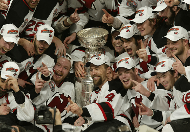 New Jersey rode Martin Brodeur's shutout to its third Stanley Cup title in nine seasons. Michael Rupp scored his first postseason goal and former Duck Jeff Friesen scored twice as the Devils controlled the puck and the game. Despite the loss, Anaheim goalie Jean-Sebastien Giguere earned the Conn Smythe trophy as playoff MVP.