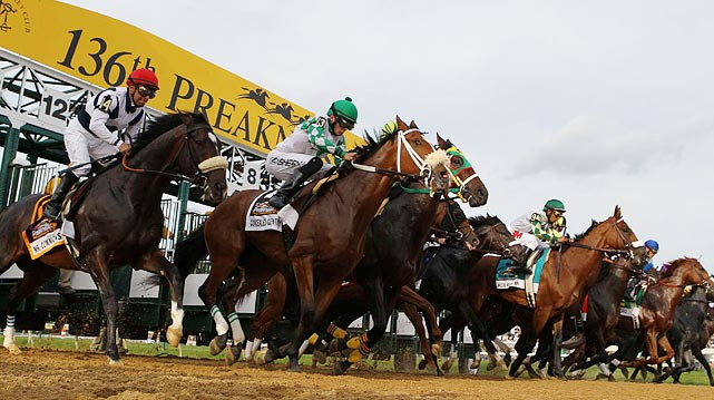And they're off ... a full field of 14 took part in the 136th Preakness Stakes.