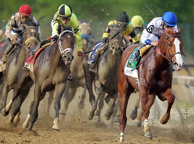 The last horse to sweep the Derby, Preakness and Belmont Stakes was Affirmed in 1978. Big Brown (2008) was the last with a chance to win the Triple Crown.
