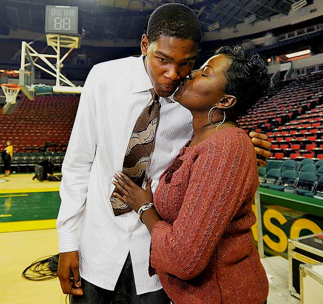 "When Kevin Durant was named the NBA's MVP in 2014, the 25-year-old delivered a poignant speech at the Thunder Events Center, in which he often became emotional, even saying at one point ""I don't know why I'm crying so much, man,"" and calling his mother, Wanda Pratt, ""the real MVP."""
