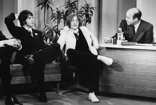 The former major league catcher (with four teams, including the Cardinals) guest hosts <italics>The Tonight Show Starring Johnny Carson</italics> in 1968 and is joined by Paul McCartney and John Lennon.