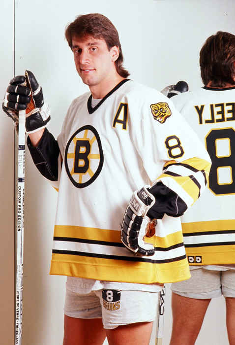 The Hall of Fame right wing played 10 seasons with the Bruins, scoring at least 30 goals six times. His best campaign statistically was 1989-90, when he scored 55 goals and totaled 92 points, both career highs. Neely currently serves as president of the Bruins.