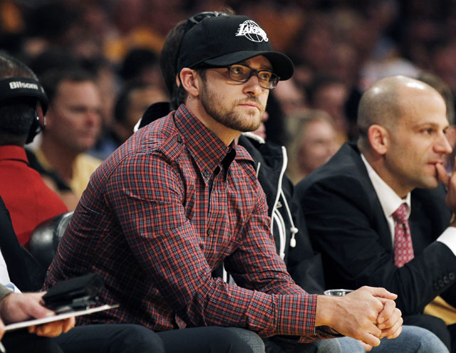 Timberlake spurned his hometown Grizzlies to root on the Lakers. Traitor.
