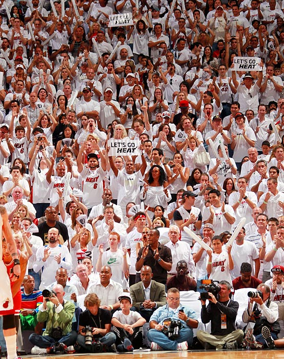 Whiteouts have migrated from the Great White North to South Beach, where Miami Heat fans are going gaga over their team. Here's a look at some other color-coordinated efforts over the years.