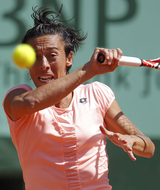 The fifth-seeded Schiavone needed just 62 minutes to dispense of Oudin, who dropped to 1-9 on clay in 2011.