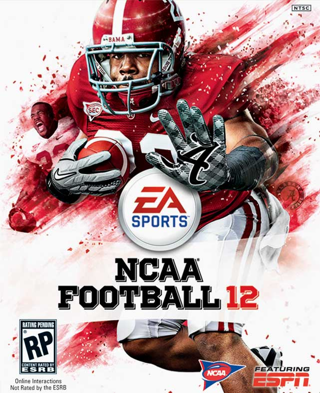 Alabama running back Mark Ingram will grace the cover of NCAA Football 12. Like Peyton Hillis, Ingram was voted for by fans, beating out other college all-stars including Nick Fairley, Jake Locker, and DeMarco Murray.   In April's NFL Draft, Ingram was selected 28th overall by the New Orleans Saints, where he will be teamed with last year's Madden 11 cover star, Drew Brees.   NCAA Football 12 is scheduled for an July 12 release on the Xbox 360 and PS3.