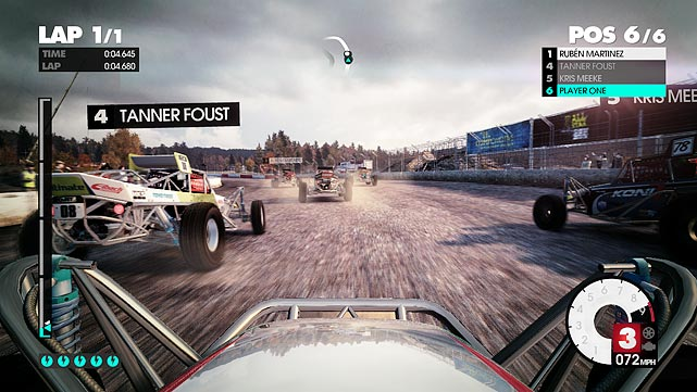 The core of Dirt 3 is the career mode, featuring a solid mixture of rally racing, group track races, time trials and Gymkhana stunt driving. Gymkhana, not to be confused with Gymkata, is a real-life racing form that features highly controlled drifting, spinning and jumping. Gymkhana events take place in closed arenas where you're racing the clock to achieve a score.  As you progress through the deep and varied career mode you can pick which type of racing you prefer more, and skip events in race types you don't like. The rally races through open terrain feel more authentic and more exhilarating as you zoom across bridges, through sharp turns and across narrow cliffs.   Progress in career mode is measured by successful placement in the various races, but Dirt 3 doesn't operate on the standard notion of making money and buying new cars. Instead, sponsors grant you access to new cars as you advance, which allows you to spend time racing instead of shopping. The game puts you behind the wheels of many licensed vehicles from the 60s through today. Each car has a unique feel, forcing you to learn the nuances of how it handles. Before each race you can quickly tweak your car across six settings that affect overall handling and acceleration. This quick tuning is handy as you're able to easily adjust to different race types and terrain.  The game looks and sounds amazing, and the graphics are further put in the spotlight as you're able to race in rain and snow during the day and at night. The snow racing is tremendous, and hearing the compacting crunch of the snow under your tires is very satisfying.  The AI in the game is very solid, though racing online is still where the best competition lives. Dirt 3 is the best racing game so far in 2011.  Score: 9.5 out of 10