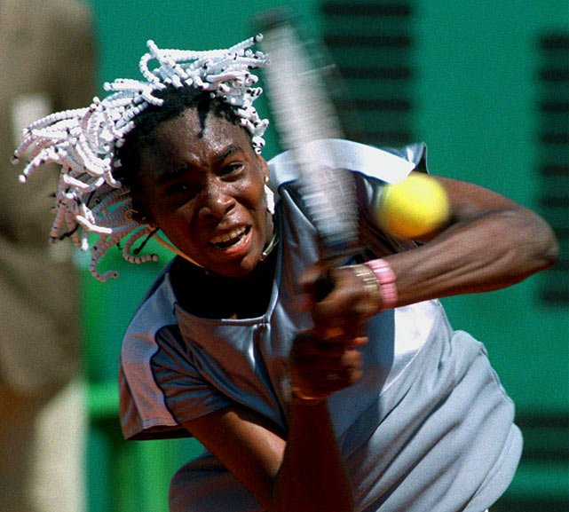 Sixteen-year-old Venus Williams made her Grand Slam debut with a 6-2, 6-7 (7-2), 7-5 win over Japan's Naoko Sawamatsu at the first day of the French Open. She fell to Nathalie Tauziat in the next round. (Over the years, the French Open has provided more than a few Memorial Day upsets.)