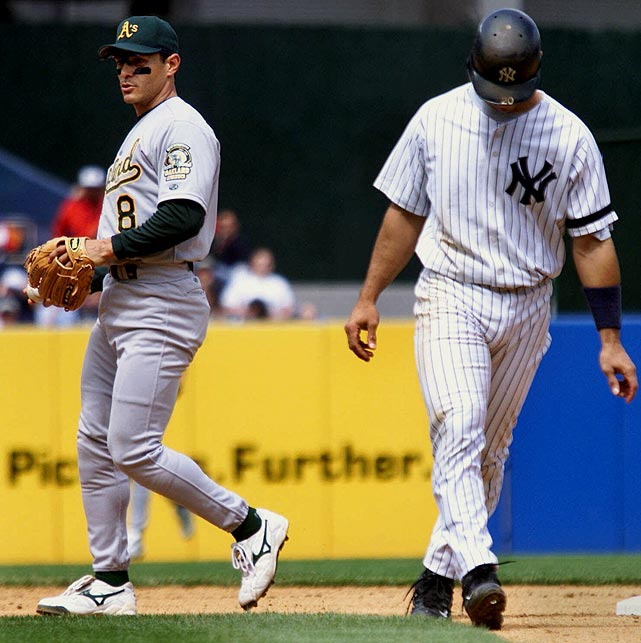 Oakland second baseman Randy Velarde completed the 10th unassisted triple play in MLB history during a 4-1 loss to the Yankees. Runners on first and second were in motion when Velarde caught a line drive from Shane Spencer for the first out, tagged Jorge Posada as he tried going back to first and then tagged out Tino Martinez as he dove back into second.