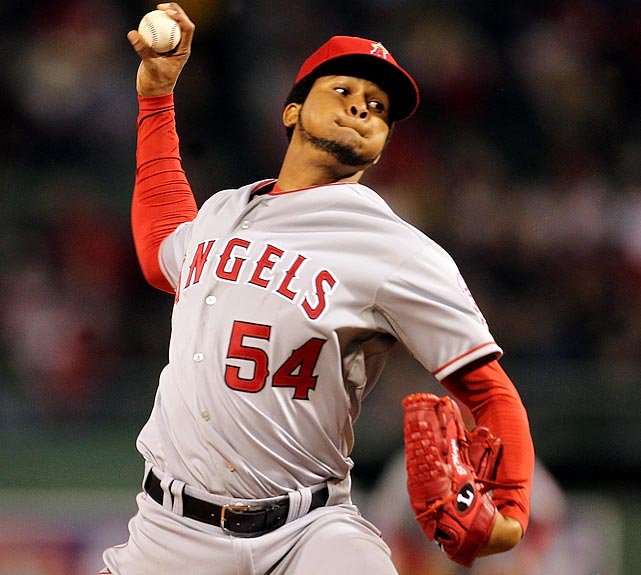 A two-hour, 35-minute rain delay ruined what could have been a special night. The wait forced the Angels to pull starter Ervin Santana (pictured) after four innings of no-hit, seven-strikeout ball. A pair of relievers -- Rich Thompson and Scott Downs -- held the Red Sox hitless until a single from Jed Lowrie with one out in the seventh. The Angels ultimately won 5-3 in 13 innings.