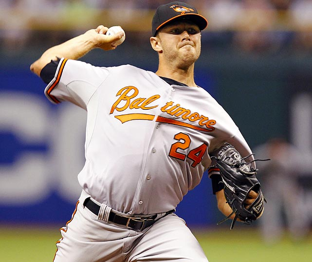 The 22-year-old righthander lost his no-hit bid without giving up a hit. After six innings of no-hit ball against the Rays, Tillman -- who threw a no-hitter last April while in Triple-A -- was pulled by manager Buck Showalter because of his pitch count. Reliever Jeremy Accardo then gave up a two-out single to B.J. Upton in the seventh to end Baltimore's hopes of a combined no-hitter.