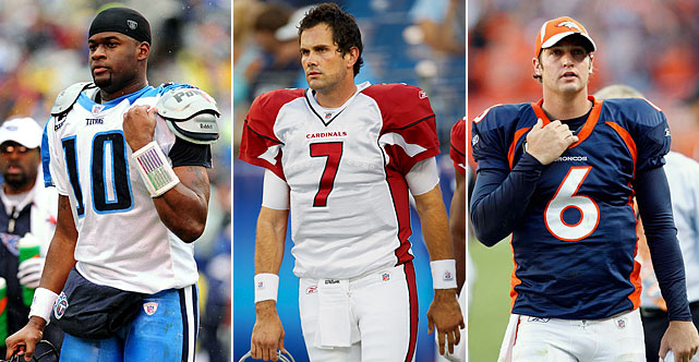 The Highlights: Turns out there wasn't as much staying power as there was star power in 2006's first-round trio of quarterbacks. Tennessee's Vince Young (No. 3), Arizona's Matt Leinart (No. 10) and Denver's Jay Cutler (No. 11) hit the league with great resumes and a ton of fanfare, but only Cutler is still active. Four passers taken in rounds 2-7 were still drawing a check in the league for clipboard duty in 2014, and occasionally playing well when given the chance: Kellen Clemens (Jets, second round), Tarvaris Jackson (Vikings, second round), Charlie Whitehurst (Chargers, third round) and Bruce Gradkowski (Bucs, sixth round).