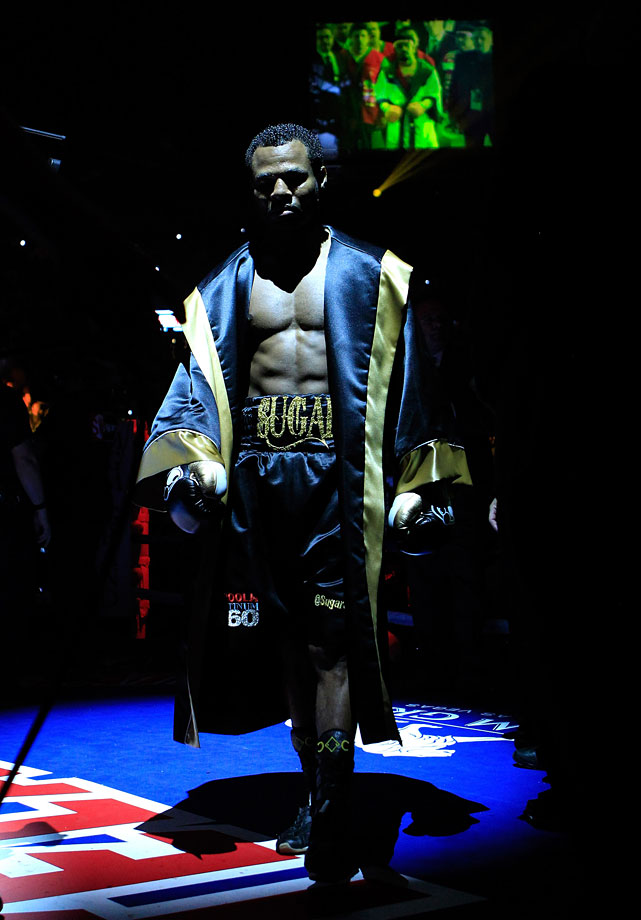 "Mosley entered the MGM Grand Garden Arena accompanied by LL Cool J, who performed ""Mama Said Knock You Out"" for the challenger's ringwalk."