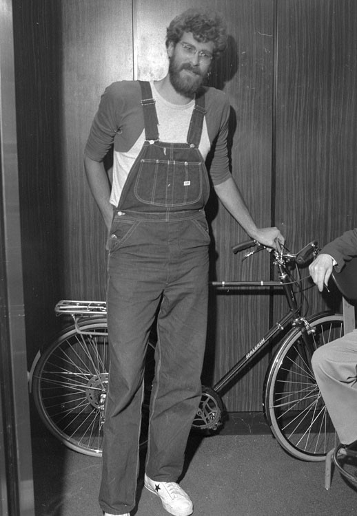 Jackson stops by Knicks offices with his bicycle on the day of the draft.