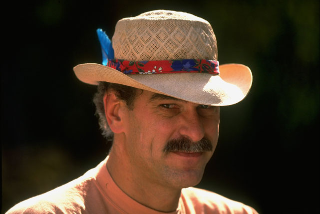 The second-year Bulls coach dons a pretty spectacular straw hat.