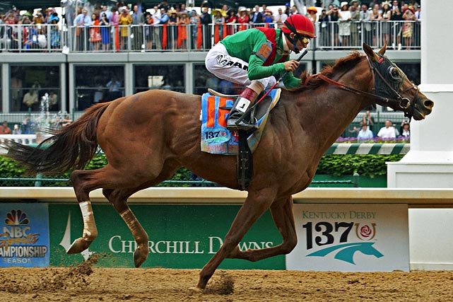 The Kentucky Derby winner overcame long odds at 21-1. Now, the question is whether he can match his performance at a shorter distance. Animal Kingdom used a strong kick down the stretch to blow by the field, but he'll have 1/16 of a mile less to work with at Pimlico. He also benefitted from a slow pace at the Derby. It remains to be seen whether he can finish strong if the field goes out faster. Although Animal Kingdom has proven himself once, he's not a lock -- Derby runner-up Nehro was even the betting favorite until he withdrew earlier this week.