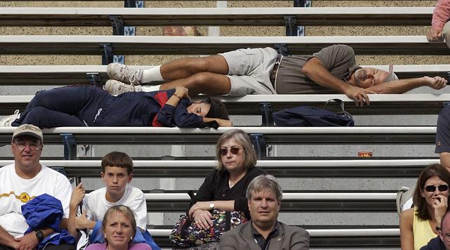 A five-set match between Arnaud Clement and Sebastien Grosjean at the U.S. Open proved to be a snoozer for this tennis fan.