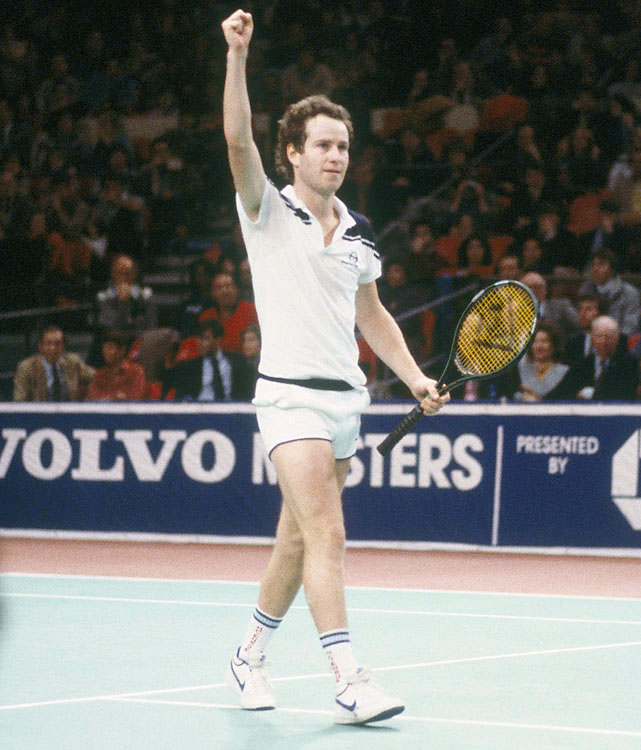McEnroe compiled perhaps the greatest year on tour in 1984, going 82-3 with 13 tournament titles. The loss that ended the streak was extremely close, a 3-6, 2-6, 6-4, 7-5, 7-5 defeat to Ivan Lendl at the French final. McEnroe never won the French Open.  Following that loss in Paris, McEnroe won 21 straight matches.