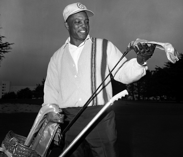 After winning his second MVP award, the Say Hey Kid hit the links for a quick round of golf. Mays was on every ballot cast after hitting .317 with 52 home runs and 112 RBI in 1965.