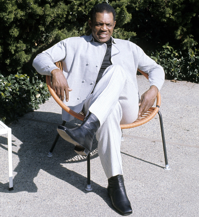 Mays sits back and poses for a photograph late in the 1960s.