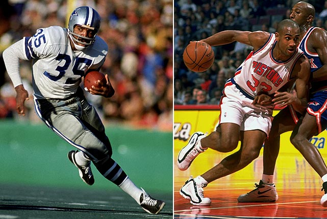 The NFL's 1969 Offensive Rookie of the Year, running back Calvin Hill made four Pro Bowls and won a Super Bowl with Dallas. His son Grant was named the NBA's Rookie of the Year in 1995 and has played in seven All-Star games.