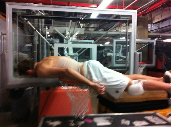 """Message from Mardy Fish:  """"@andyroddick You have been officially challenged to a plank off. Game on..."""""""