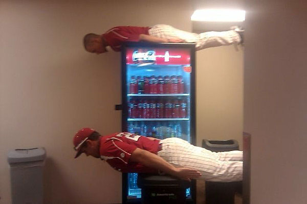 Two members of the South Carolina baseball team celebrated their College World Series title like any true champs would.
