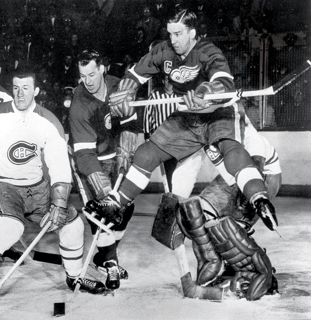 Defenses cowered in fear when the Detroit Red Wings' Production Line came to town. Comprised of Gordie Howe, Sid Abel and Ted Lindsay, the trio held the top three spots on the NHL scoring list for the 1950 season.