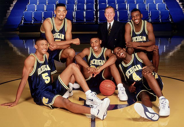Bringing baggy shorts, trash talk and hip hop flair to college basketball, the group -- considered by some to be the best recruiting class ever -- led Michigan to the national championship game in 1992 and 1993. Chris Webber, Juwan Howard, Jalen Rose, Jimmy King and Ray Jackson were all among the nation's top-100 recruits (and all but Jackson was ranked in the top nine).