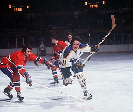 The iconic Sabres' line of Rick Martin, Gilbert Perreault and Rene Robert brought scoring flair and Fu Manchu mustaches to Buffalo from 1972 to 1979. All three were French Canadians from Quebec, and they teamed to lead the Sabres to the 1975 finals, where they lost to the Flyers in six games. Buffalo made the playoffs in all but one of the trio's seasons together.