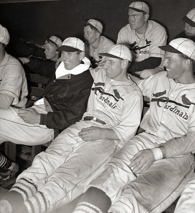 The 1934 Cardinals took the field in unwashed uniforms and earned their nickname from the unpleasant smell. But they also played good baseball. St. Louis won 95 games and took the World Series over Detroit. Dizzy Dean won 30 games, and hard-nosed players like Leo Durocher, Pepper Martin and Ripper Collins led the scrappy ballclub.