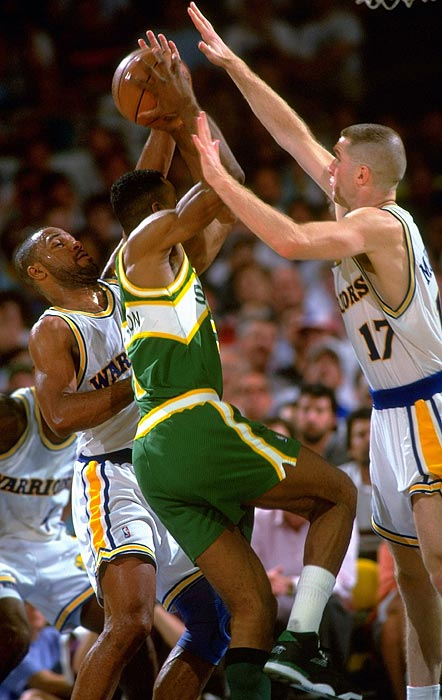 The Warriors' high-scoring trio of Tim Hardaway, Mitch Richmond and Chris Mullin took a nickname inspired by the rap group Run-D.M.C. The group spent two seasons together (from 1989 to 1991) and advanced to the Western Conference semifinals. Don Nelson, looking to complement his fast-breaking offense with a post presence, traded Richmond to the Kings before the 1991-92 season to end the group's run.