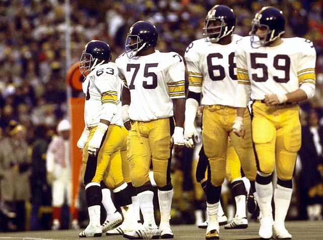One of the most dominant defenses in NFL history, the Steel Curtain was the nickname of the Pittsburgh defensive line in the 1970s. The Steelers won the Super Bowl in 1975, 1976, 1979 and 1980. During the 1978-79 season, Pittsburgh allowed the third-fewest points in NFL history, giving up only 195 in 16 games. The 1976 Steelers were even better, allowing only 138 points in 14 games.