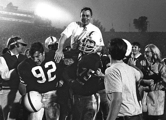 Stanford's answer to USC's Wild Bunch was the name of a motorcycle gang in Montana: the Thunderchickens. Defensive end Pete Lazetich thought the name fit the defensive line in the 1970 preseason, and its use grew from there. The defensive line joined with the offense, led by quarterback Jim Plunkett, to take Stanford to back-to-back Rose Bowl wins.