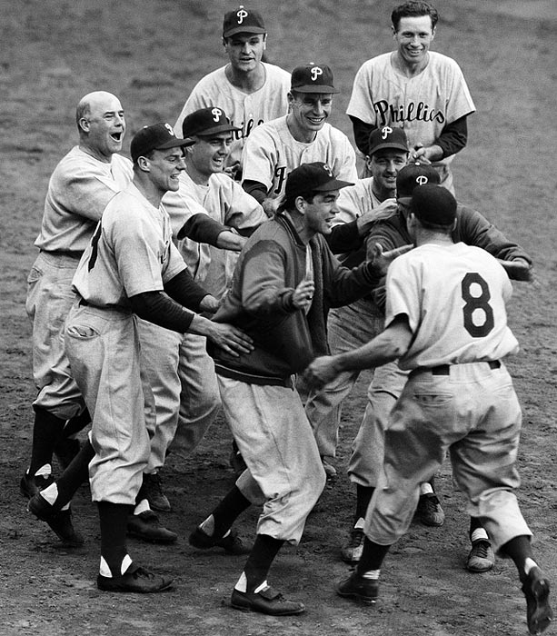 A group of talented home-grown prospects, the Whiz Kids won Philadelphia's first pennant in 35 years in 1950. Robin Roberts, Richie Ashburn, Del Ennis, Granny Hamner, Willie Jones and Curt Simmons excited the Phillies' fans by jumping out to a seven-game lead with 11 games to play. But the team almost gave it away, needing a win on the final game of the season to make the playoffs. The group never matched its initial success, failing to finish above third again.