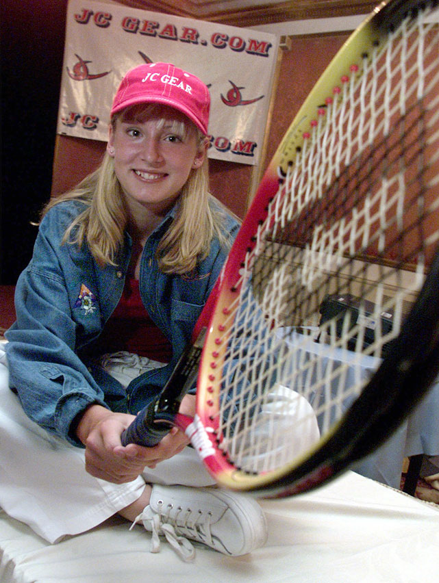 "After becoming the first American junior tennis player to win both singles and doubles titles at the prestigious Les Petit AS tournament in France, Mattek-Sands announced she was turning pro and launching her nickname ""Stinger Bee"" line of tennis apparel in New York. The 14-year-old from Boca Raton, Fla., represented JC Gear.com, with a portion of the proceeds going to help restore the lives and library of Colorado's Columbine High."