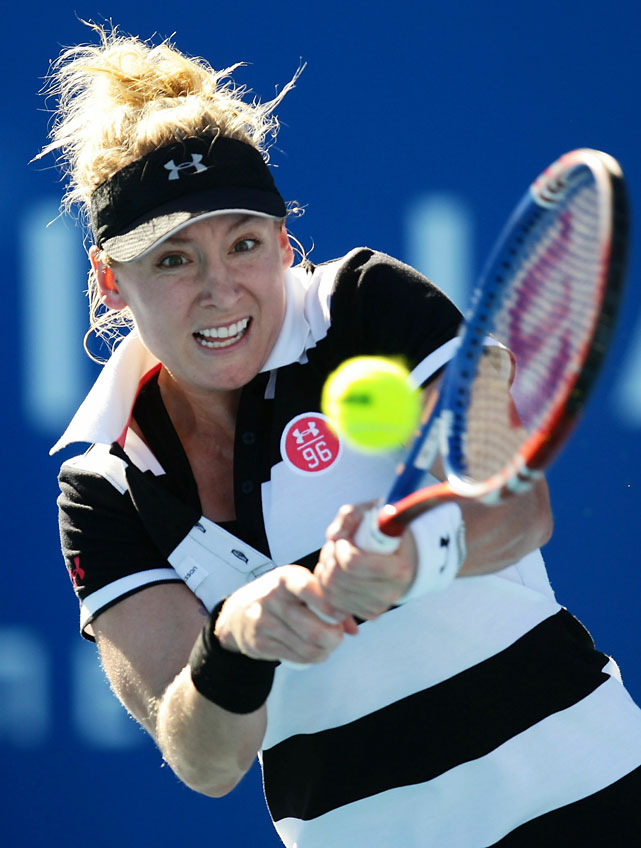 Mattek-Sands returned to the prepster look at the 2011 Moorilla Hobart International.